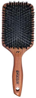 Deville Cushion Paddle Boar Bristle Hair Brush #344 W Wooden