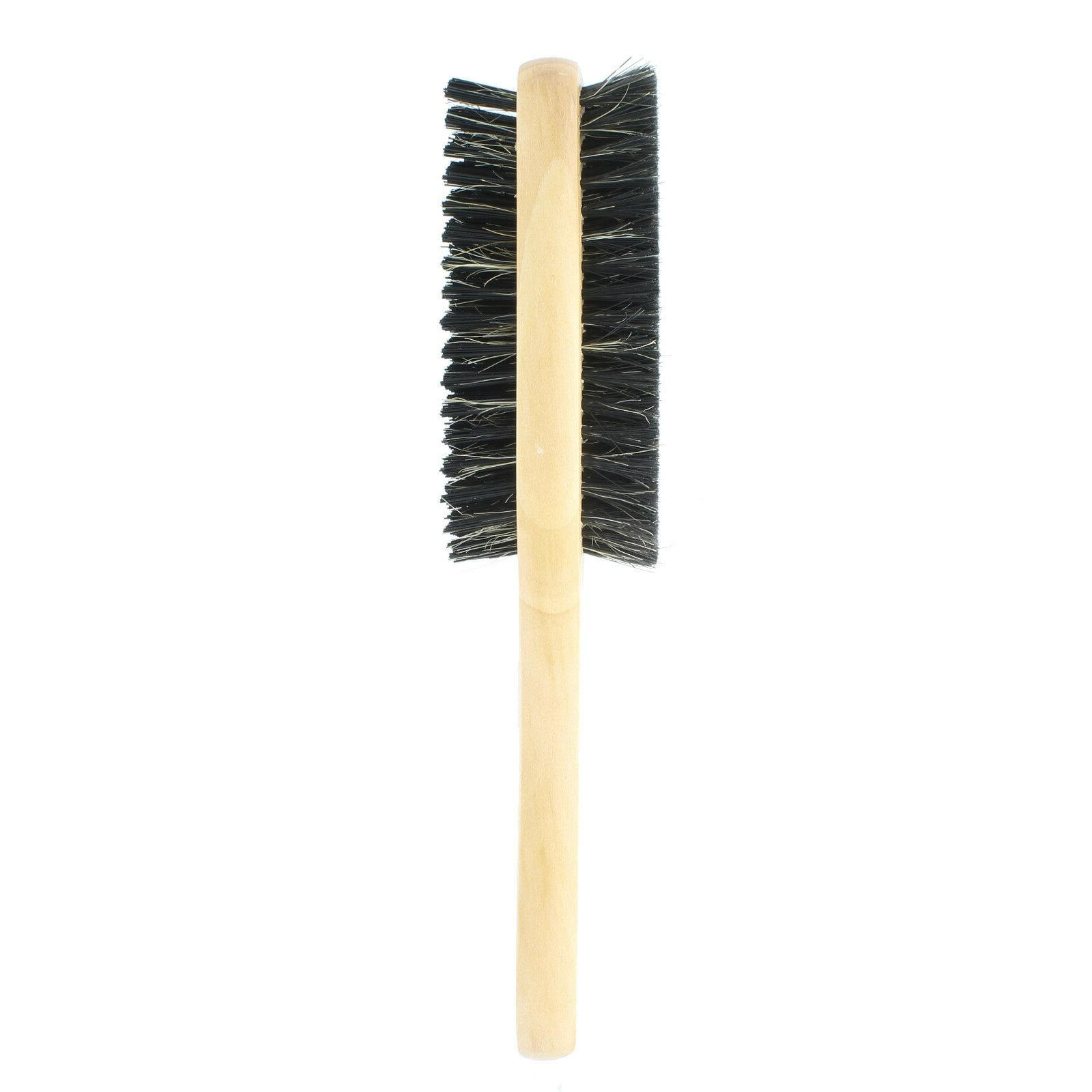 Double Boar Brush Natural Wooden #
