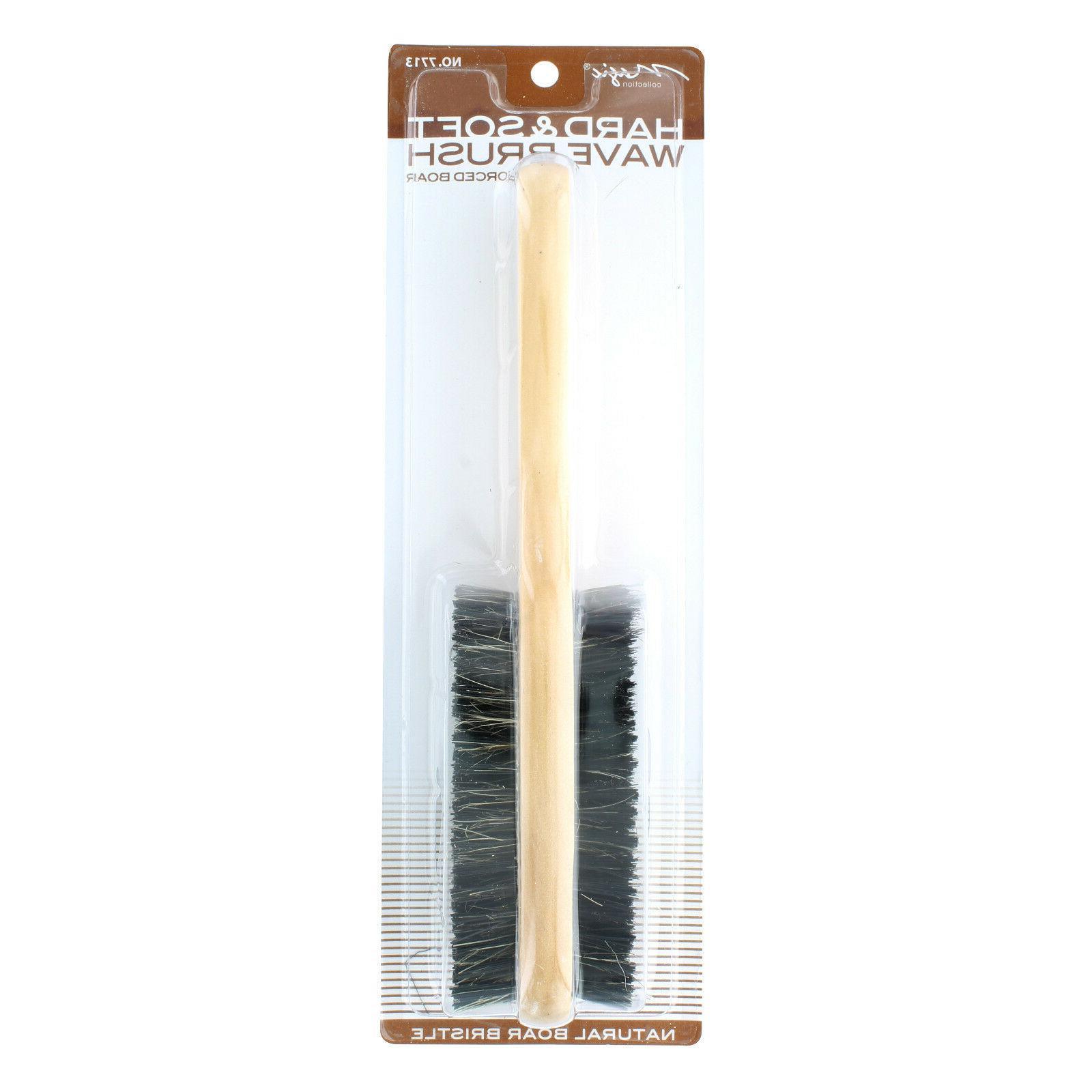 Double Boar Bristle Wave Brush # 7713 NEW