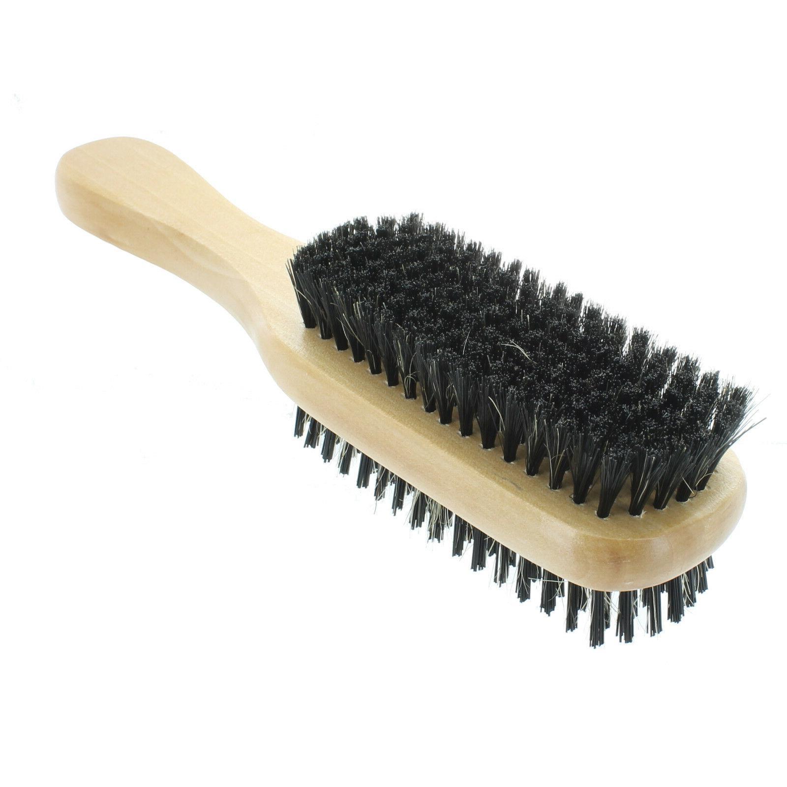 Double Boar Hair Brush Wooden Handle #
