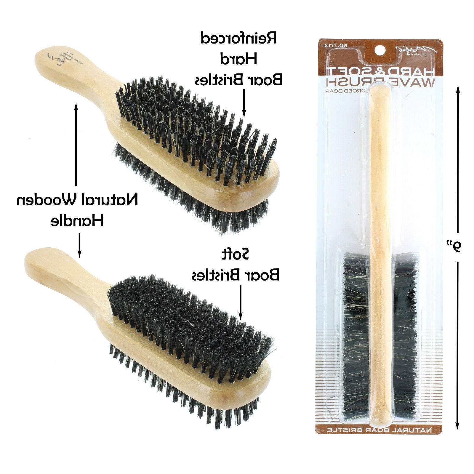 double hard and soft boar bristle wave
