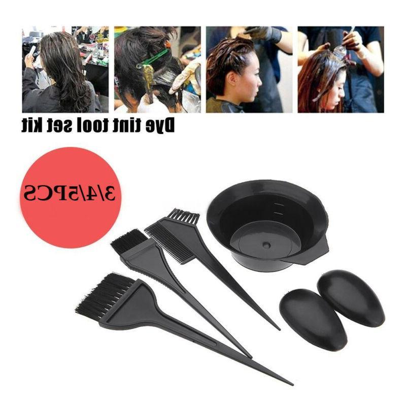 dye tint mixing bowls hair brush comb