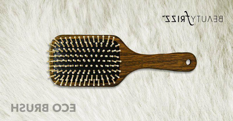 BeautyFrizz Eco Paddle Non-Irritating Wooden for Daily Use.