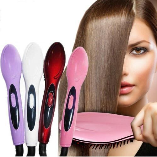 Electric Comb Hair Straightener Irons Heating Brush for Stra