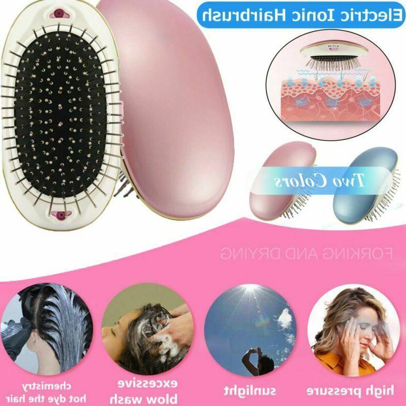 electric hair massager brush comb ionic hairbrush