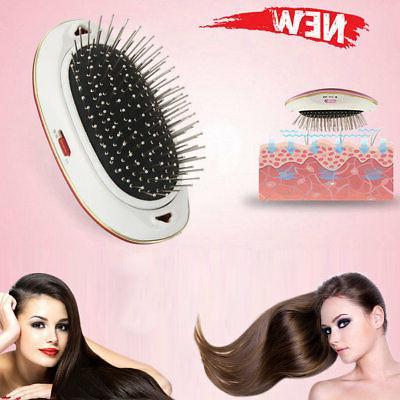Electric Ionic Takeout Mini Hair Brush Massage Head Portable