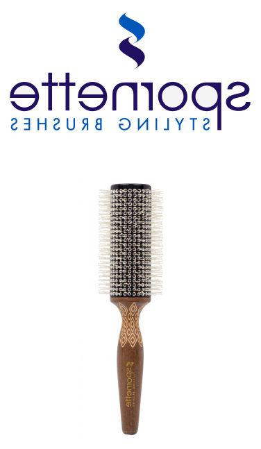 etched thermal ceramic rounder hair brush free