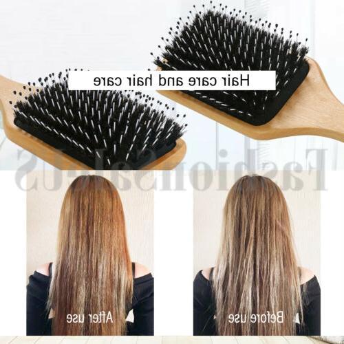 Fashion Natural Bristle Hair Brush Paddle