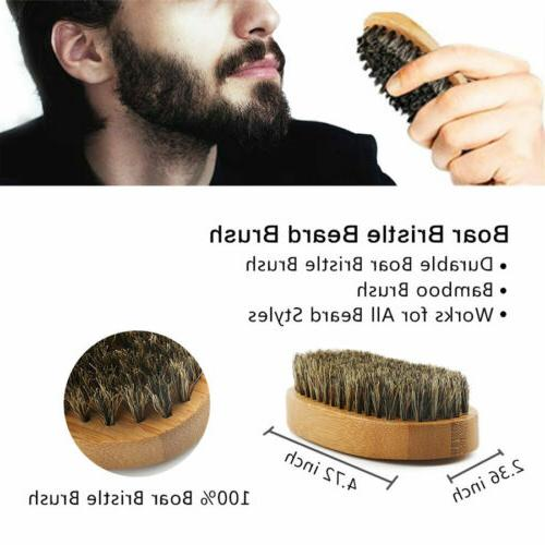 Hair Brush Set for 100% Natural Boar Bristle Brush Oil Wax