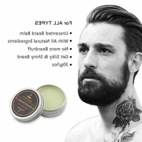 Hair & Beard Brush for 100% Natural Bristle Brush & Wax
