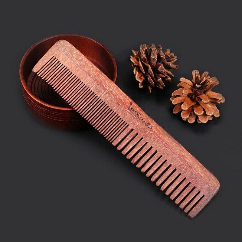 Hair Beard Brush Fine Tooth Wooden Case Sandalwood