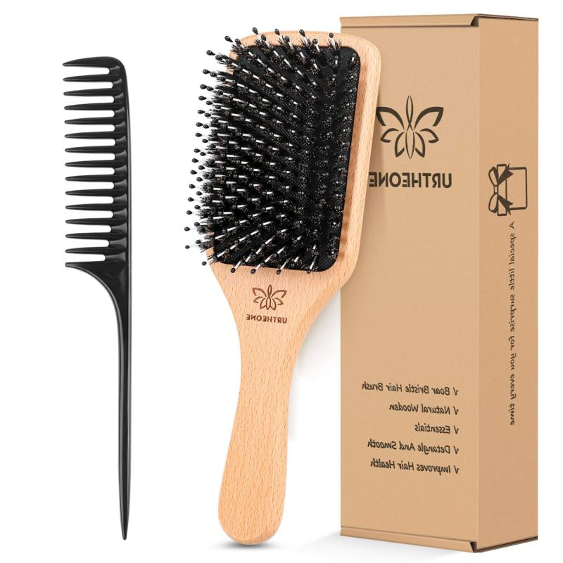 Boar Bristle Hair brush Thick Curly Thin Long Short Wet Dry