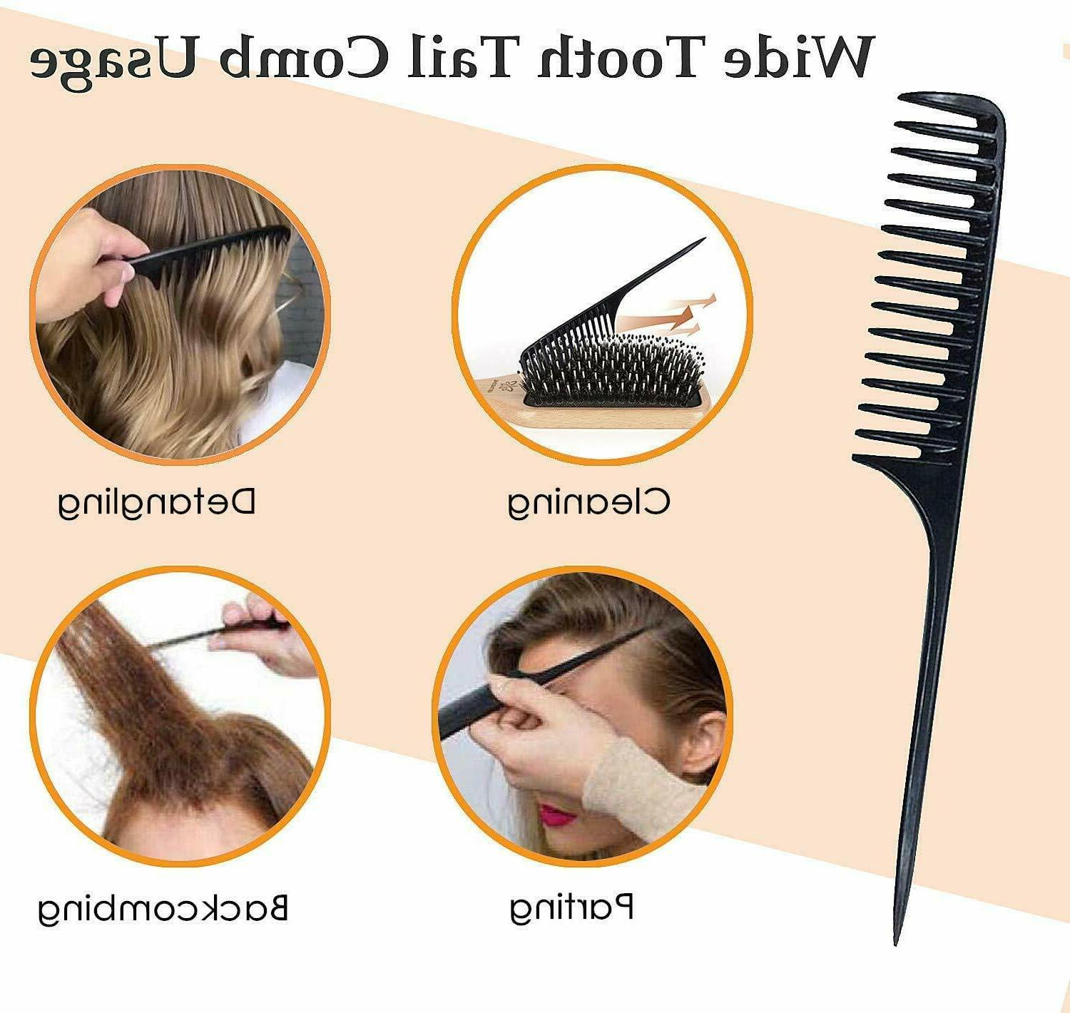 Hair Brush Comb, Boar Bristle Paddle Long Thick Dry