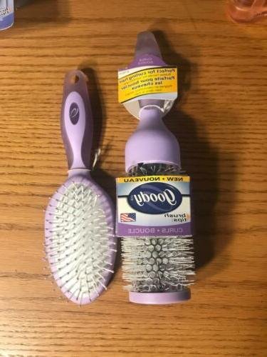 hair brush lot of 2 brushes year