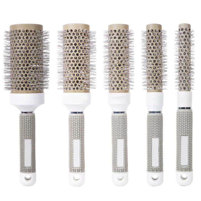 hair brush nano thermal ceramic ionic round