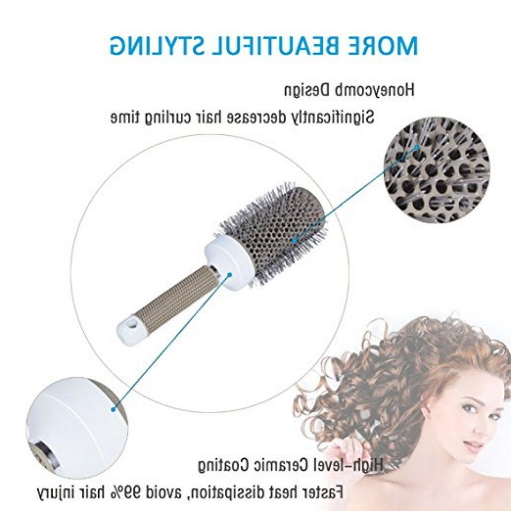 Hair Brush Ceramic Round Comb Inch