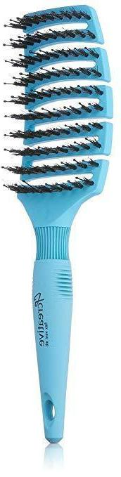 Creative Hair Brushes Boar and Pin Bristle, Blue NEW
