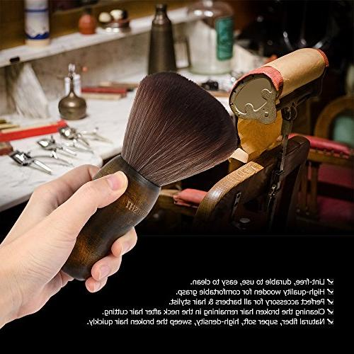Anself Cutting Neck Duster Brush Barber Fiber Handle