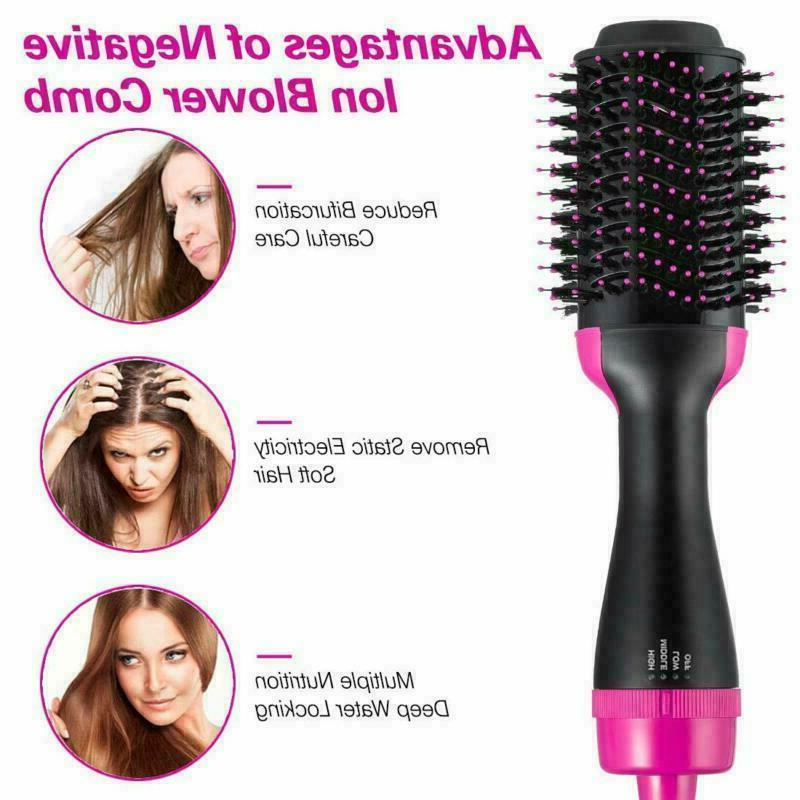 Hair Oval Styler Mixed Bristles in 1