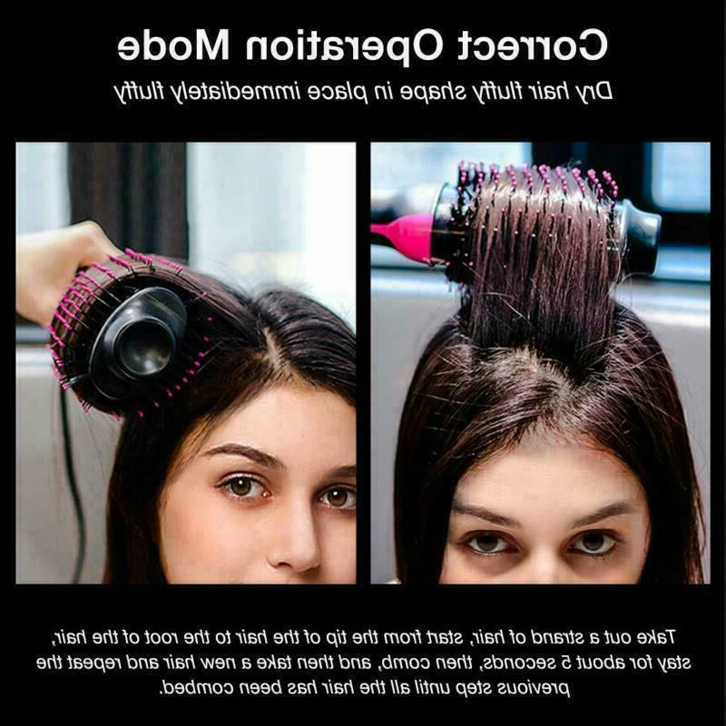 Hair Dryer Volumizer Curling Oval Curler Mixed Bristles in 1