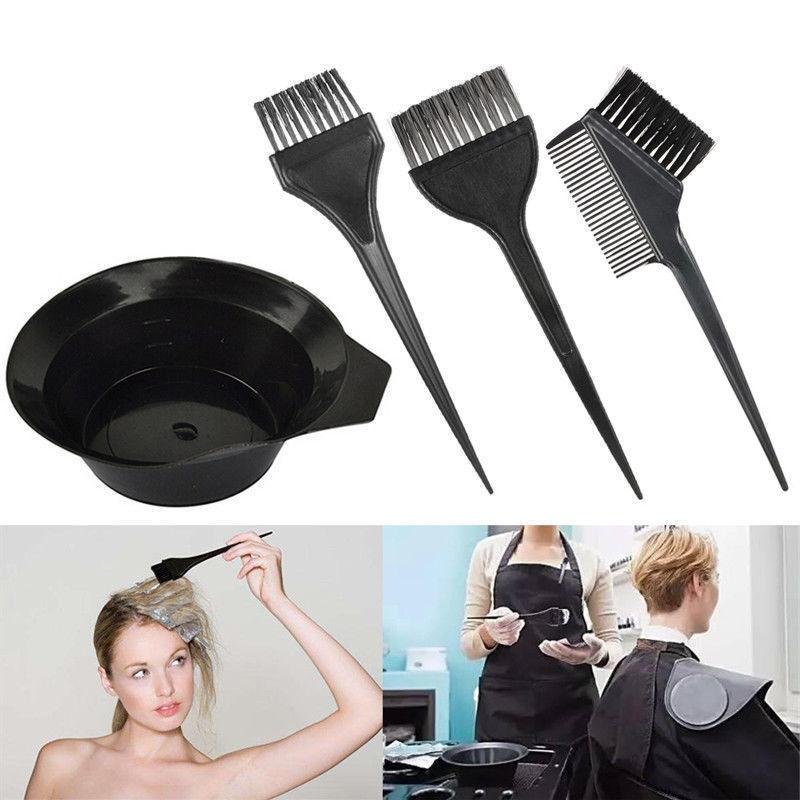 Hair Dye Color Brush Bowl Combo Coloring Brush Kit 4 pcs Set