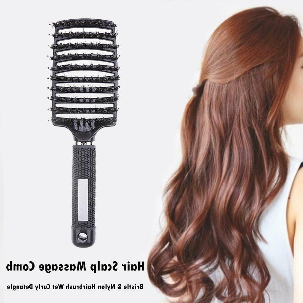 Hair Brush Paddle Curly Massage Comb Anti-Static Styling
