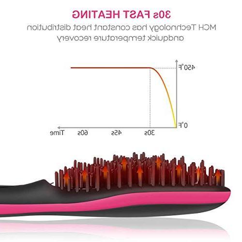Hair Ceramic Hair Hair Straightener Comb Women Anti-scald Technology, Shut Off Temperature