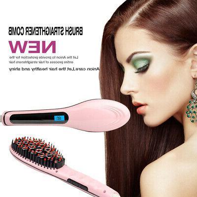 Hair Brush LED Instant Straight