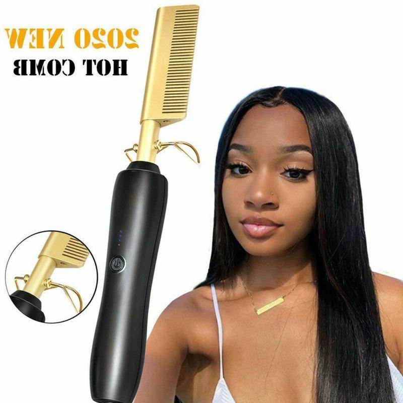 Hair Straightening Brush Heating