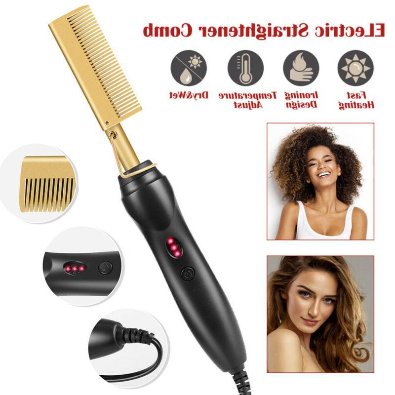 Hair Straightening Heating Hair.