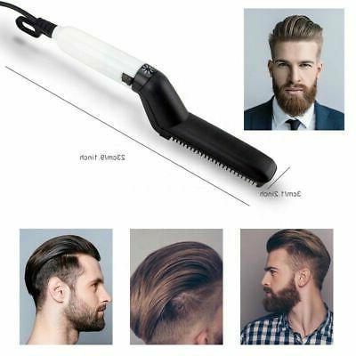 Hair Men Comb Curling Electric Brush Beard Comb US
