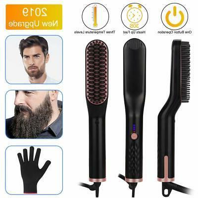 hair straightening brush beard straightener brush vegkey