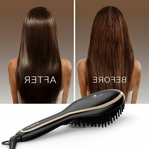 USpicy Hair Straightening Hair straightener Brush MCH heating