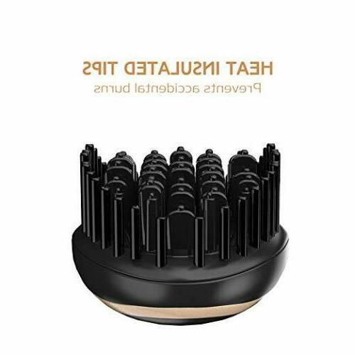 USpicy Hair Brush, Hair straightener Brush MCH heating technology