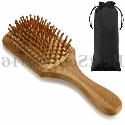 handmade natural wooden massage head scalp straight