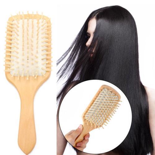 handmade natural wooden massage head scalp hair