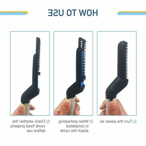 Hot Hair Straightener Comb Curling Electric US