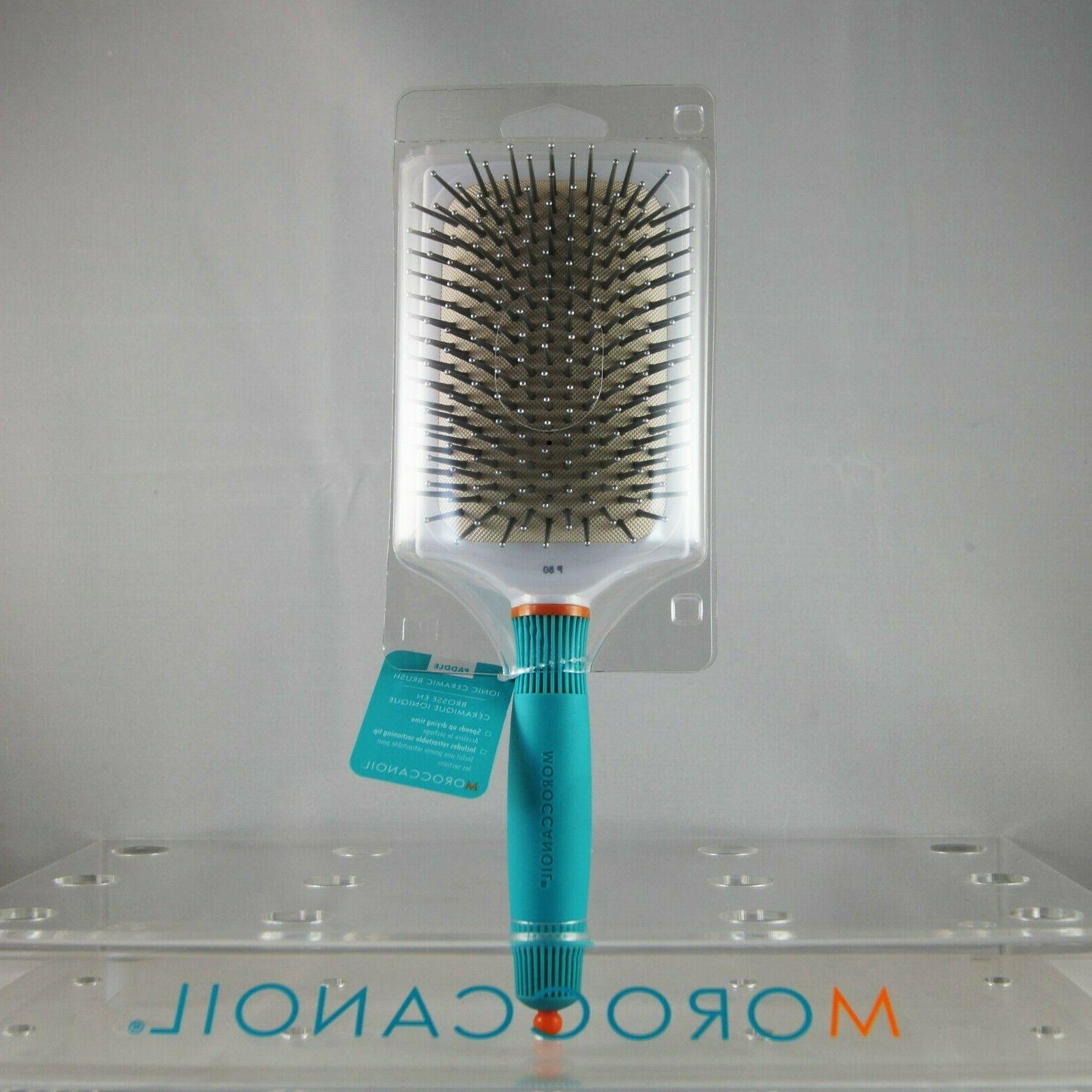 Moroccanoil Ionic Ceramic Thermal Paddle Brush P80 Brand New