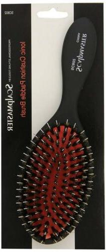 Scalpmaster Ionic Porcupine Boar Bristle Cushion Hair Brush