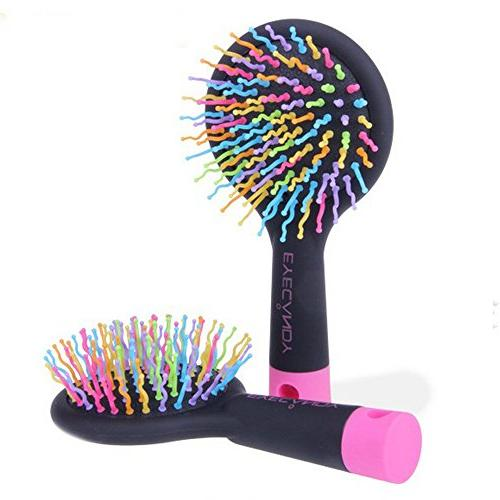 korean rainbow cushion comb