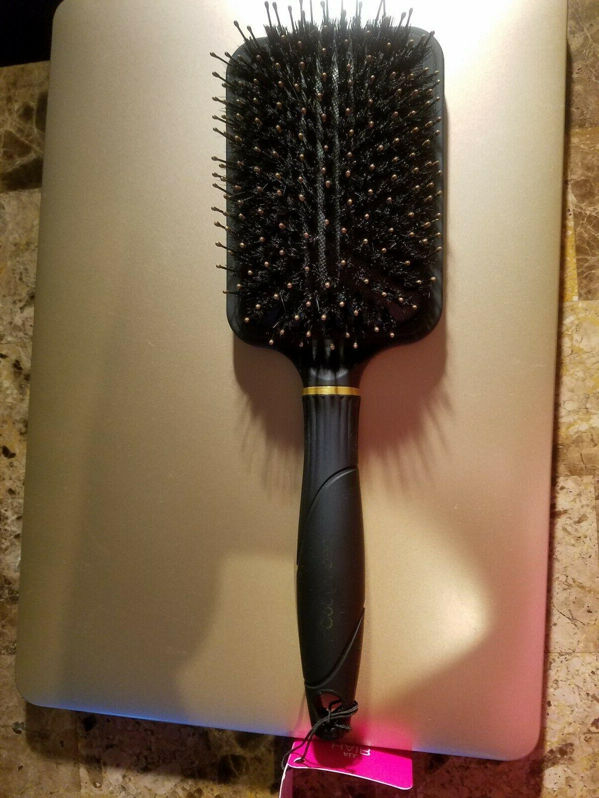 large styling paddle brush and dry hair