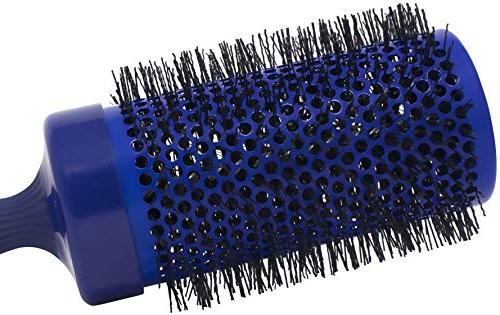 Spornette 1/2 Long Smooth Brush Crimped Ionic Bristles Extended for Waving Long Hair