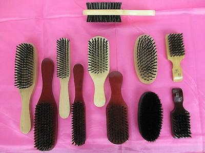 LOT OF 2--BOAR PLASTIC HAIR SOFT OR HARD BRISTLE