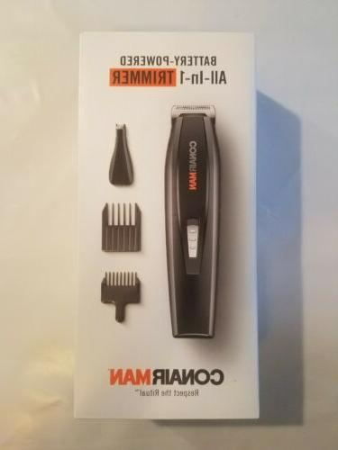 man all in one trimmer battery powered