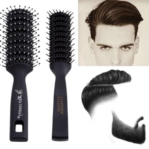 Men Anti-static Hair Brush Professional Hair Care Ribs Comb Hairbrush Salon