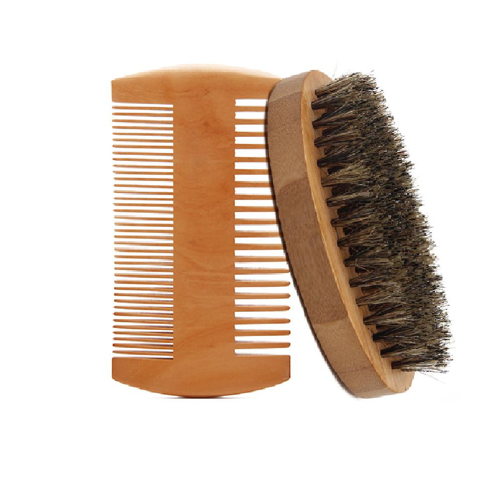 Men Boar Hair Bristle Beard Mustache Brush