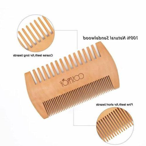 Men Boar Beard Mustache Hard Round Handle Comb