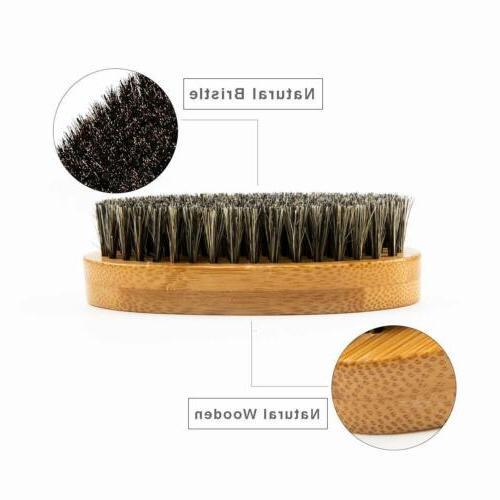 Men Beard Hard Round Wood Handle Comb