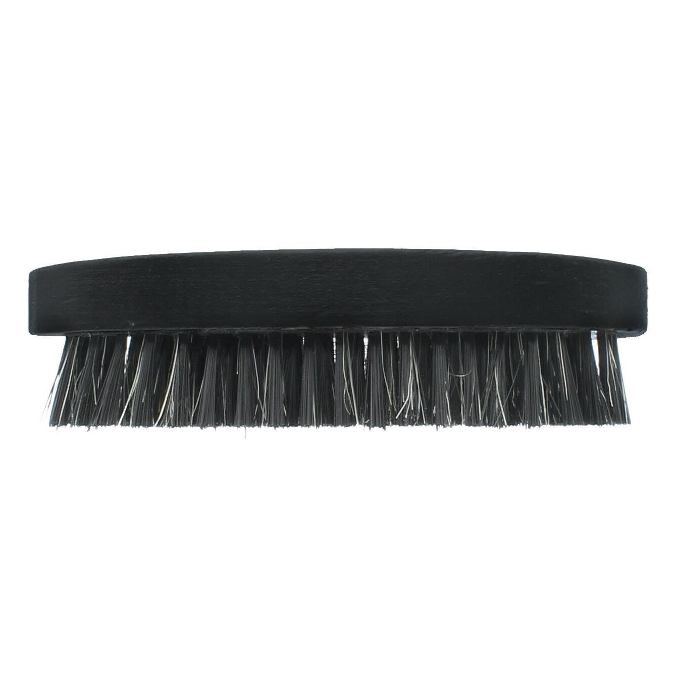 Men Boar Bristle Beard Brush Soft Round Black