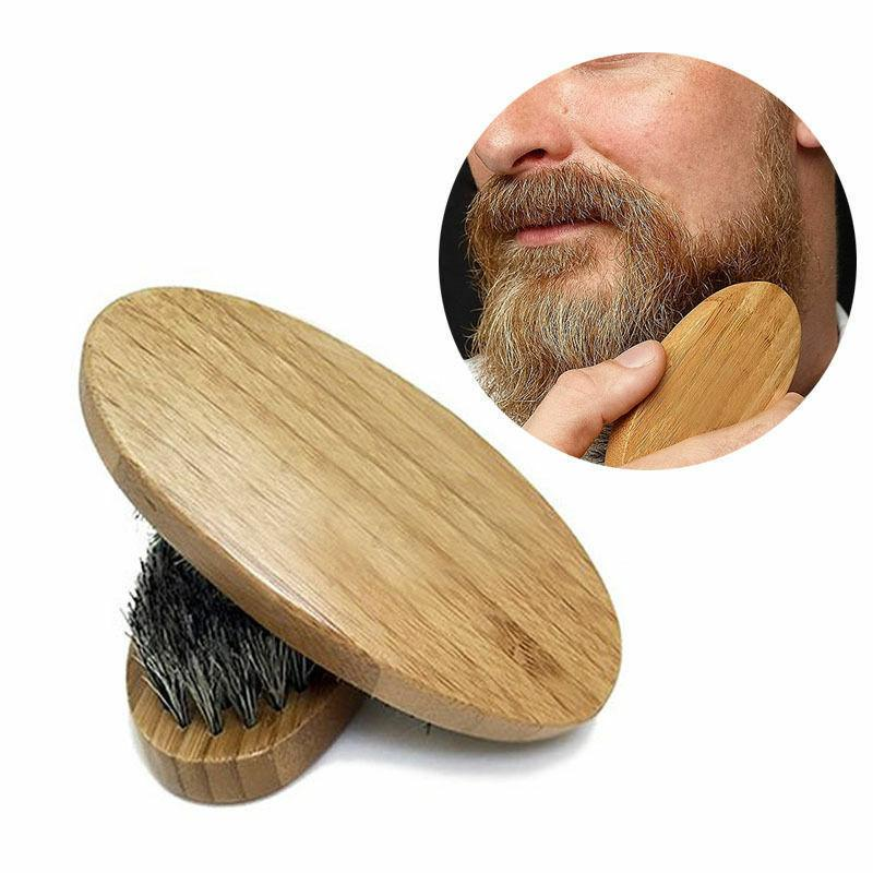 men boar hair bristle beard mustache brush
